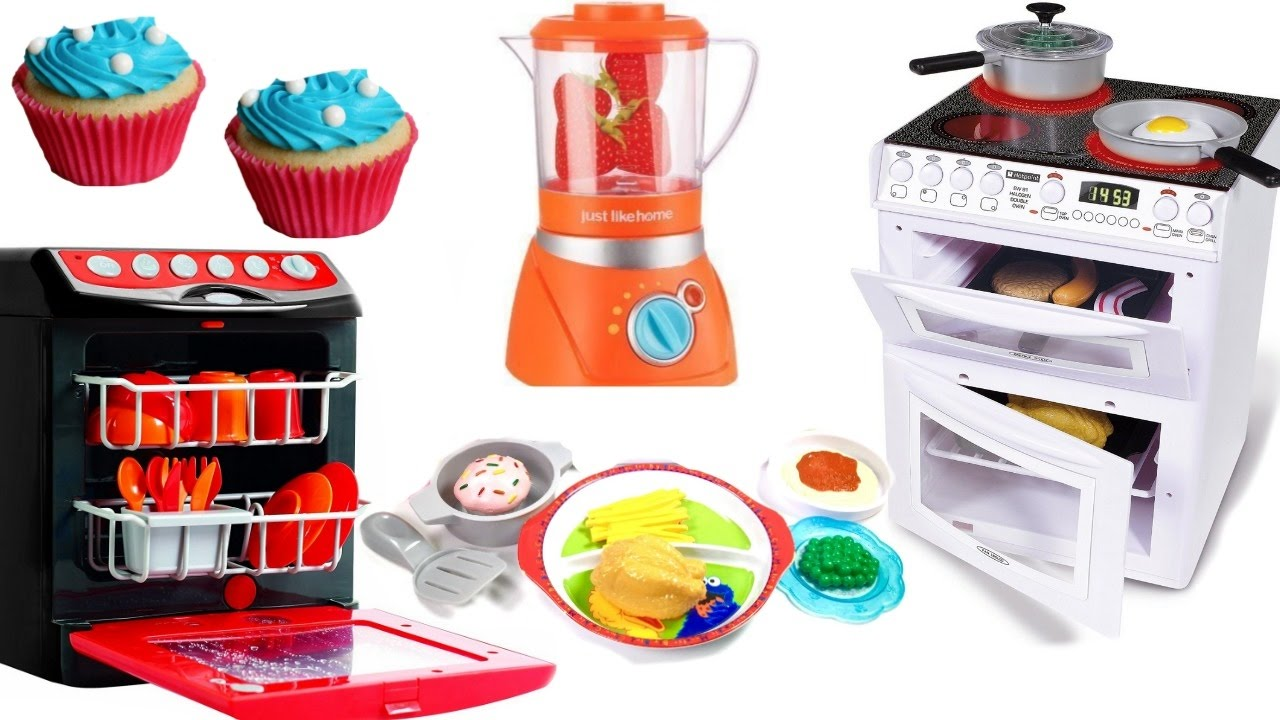 Toy Kitchen Electric Light Sound Oven Cooking Baking
