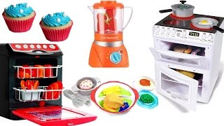 Toy Kitchen Electric Light & Sound Oven Cooking Baking Play Doh Food Velcro Vegetables Fruit