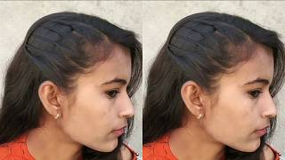 Everyday Hairstyles in just 1 min || Hairstyle for school || Beautiful side twisted hairstyle