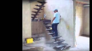 Лестница на монокосоуре с ограждением из  нержавеющей стали(, 2015-11-01T09:56:13.000Z)