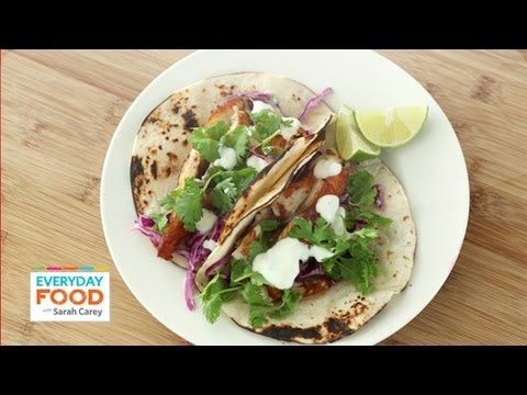 Fish Tacos With Cabbage And Lime - Everyday Food With Sarah Carey