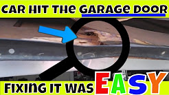 🚗DIY- Easy Garage Door Repair When Your Car Backs Into It 🚙