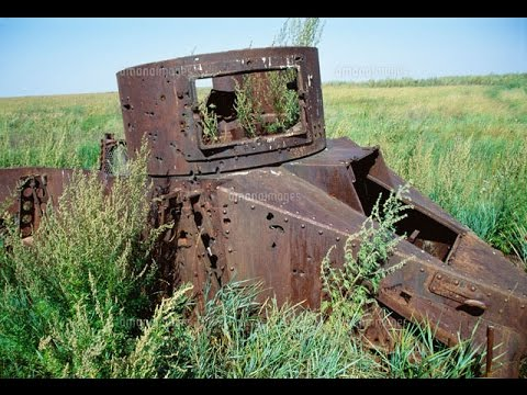 World War II Tank Relic's In Mongolia