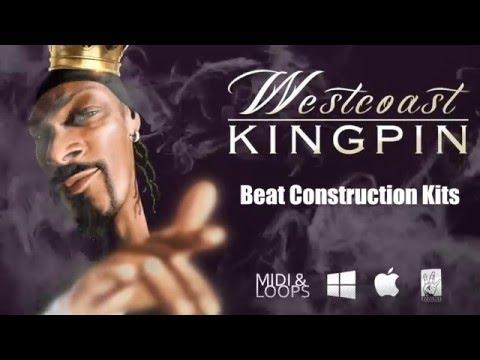 Westcoast Kingpin - Midi and Loops Beat Construction Kits