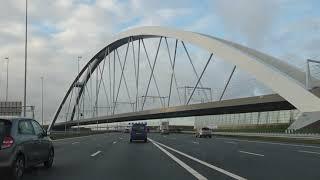 Dashcam Beelden Eemnes: A1 Knooppuntten Muiderberg,Diemen,Watergraafsmeer, A10 Knooppunt Coenplein.