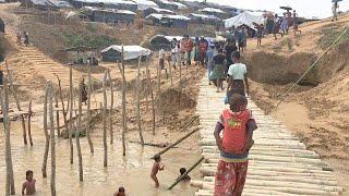 バングラデシュのロヒンギャ難民キャンプ(日本赤十字社提供) ロヒンギャ 検索動画 14