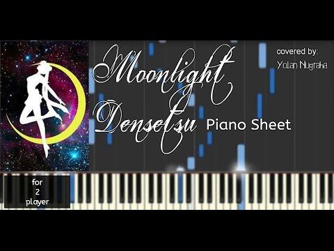 [Sad Piano] Moonlight Densetsu (Ost. Sailormoon) Instrumental Piano Sheet [synthesia]