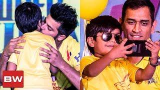 IPL Kid Ashwanth Celebrates with Dhoni and Team   CSK   IPL 2018