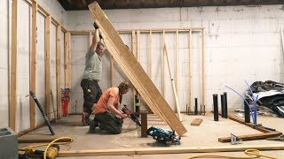 NO WAY… WE GOT WALLS!  (Framing Garage Bathroom)