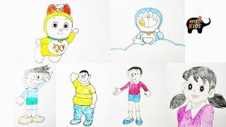 Hướng Dẫn Vẽ Các Nhân Vật trong truyện Doraemon