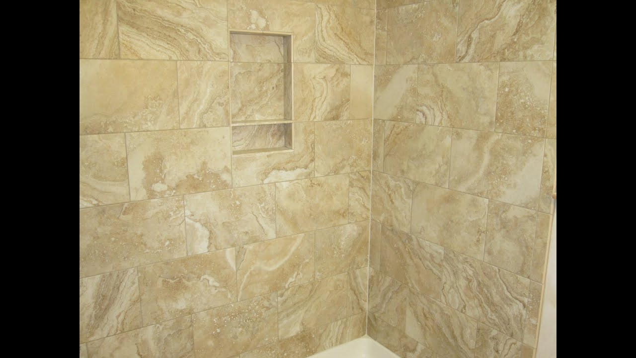 Whole ceramic tile bathroom in less than ten minutes. - YouTube
