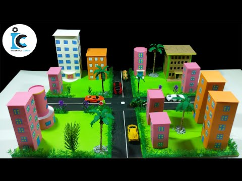 DIY Miniature Modern City With Origami Paper-Mini Eco City