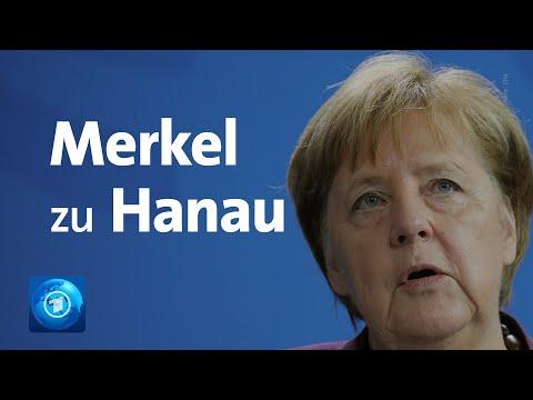 Nach Schüssen in Hanau: Statement von Bundeskanzlerin Merkel