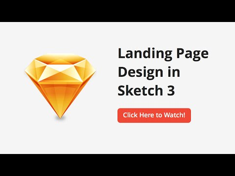 How to Design a Landing Page in Sketch - Desktop Layout (Part 1/5)