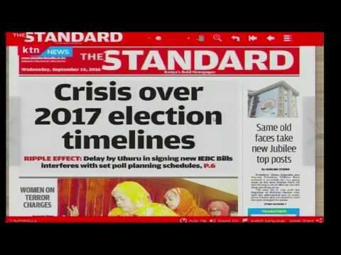 Morning Express 14th September 2016: New Crisis over 2017 election polls