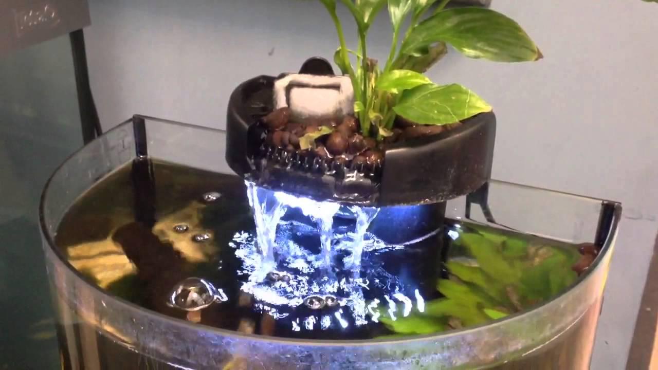 Superfish Aquaponics 10 Waterfall and Light - YouTube