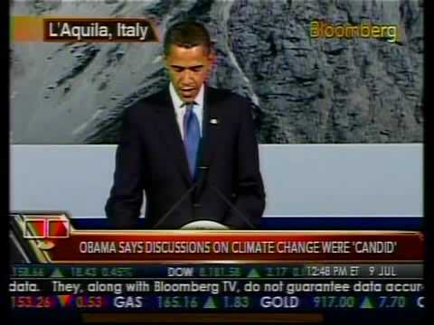 Obama Comments on Climate Change - Bloomberg