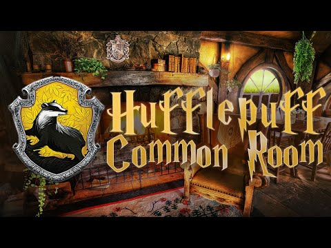 🍀 Hufflepuff Common Room ⚡ Harry Potter ASMR 🔥