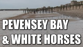 Pevensey Bay & White Horses in East Sussex - English beach fishing locations, South Coast, England