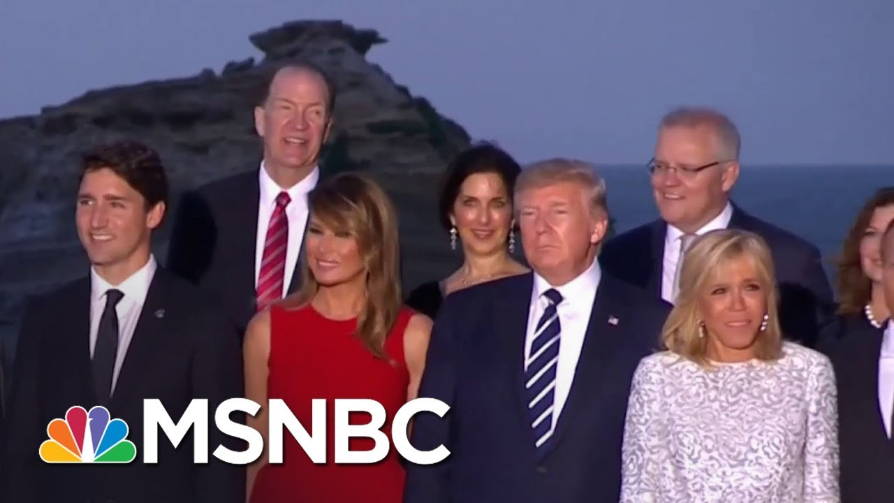 World Leaders Take 'Class Photo' At G-7 | MSNBC