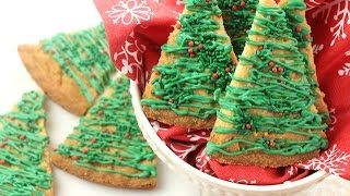 How To Make Christmas Tree Shortbread Cookies 🎄