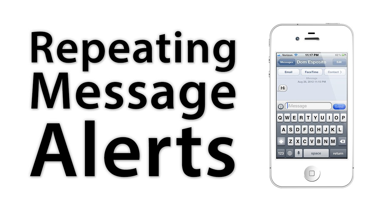 ios advice how to add or disable repeating message alerts youtube