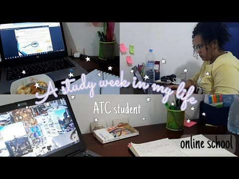📚اسبوع في حياتي كطالبة: مراقبة جوية✈، دراسة عن بعد، clubs...||Study week