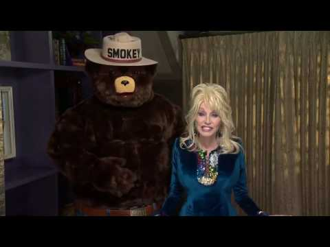 Dolly Parton and Smokey Bear Work Together to Prevent Wildfires