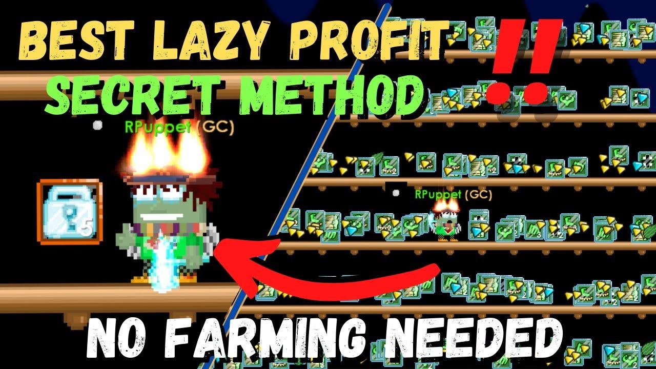 Download SECRET LAZY PROFIT IN GROWTOPIA 2021‼️321 to 500 WLS [NO FARM] 100% WORKS - GROWTOPIA PROFIT 2021