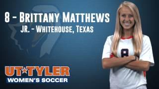 #uttylerwsocc Broadcast Intro Video - Brittany Matthews