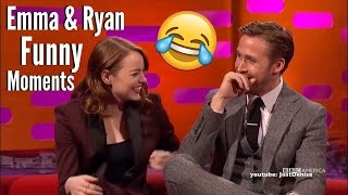 Ryan Gosling And Emma Stone Hilarious & Cute Moments 2017