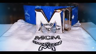 MCM BELT UNBOXING AND REVIEW *NEW* Surf the Web (Blue)