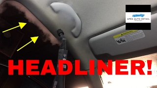 How to clean a  dirty, nasty headliner in your car!