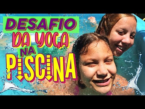 DESAFIO DA YOGA NA PISCINA! | BELA TAGARELA