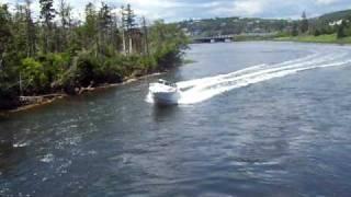 Dave transversing Rocky Run Lawrencetown Nova Scotia