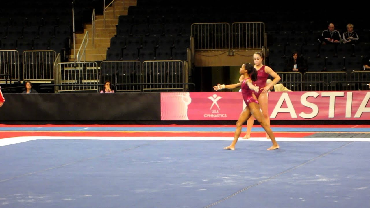 floor gymnastics gabby. Gabby Douglas - Floor Exercise 2012 AT\u0026T American Cup Podium Training YouTube Gymnastics W