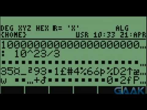HP calculators: Algebraic bug on 49 series - Gaak