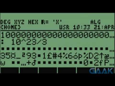 HP calculators: Algebraic bug on 49 series - Gaak
