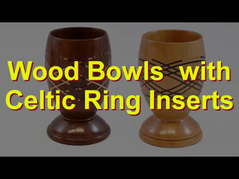 Wood Bowls with Celtic Ring Inserts