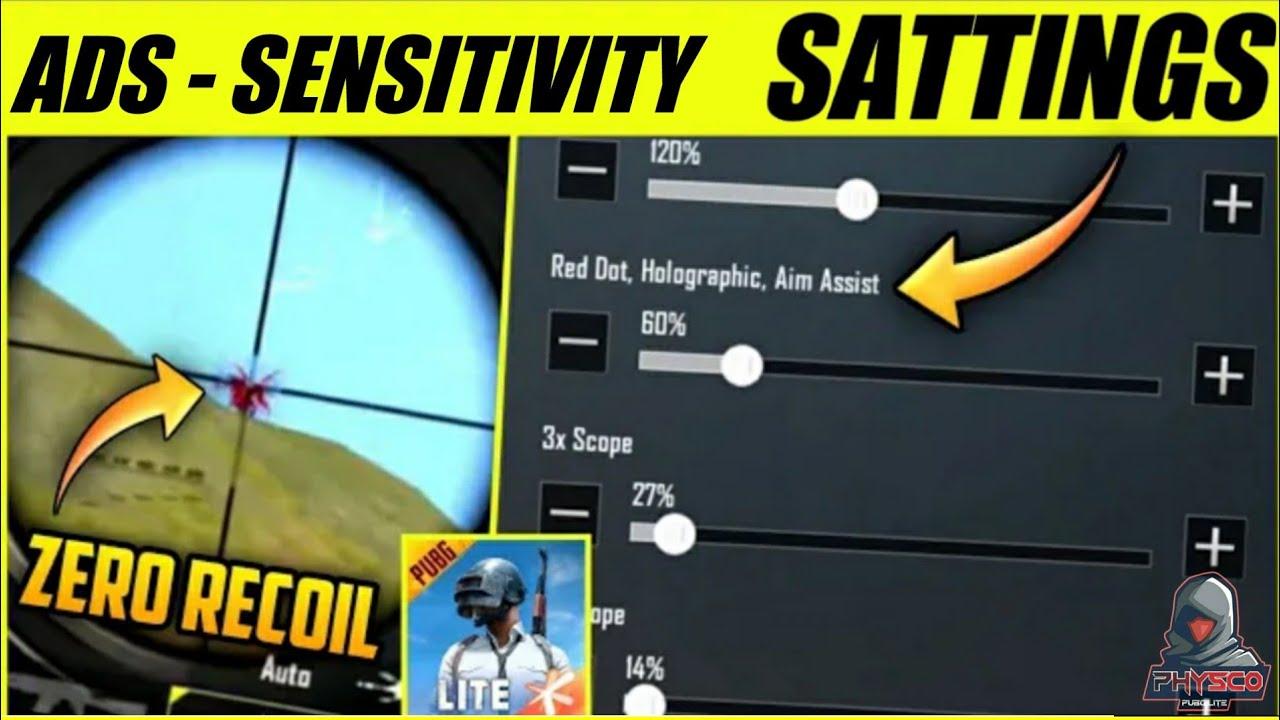 Ads Sensitivity Satting | Zero Recoil Sensitivity Sattings Pubg Lite | Pubg Lite Sensitivity Setting