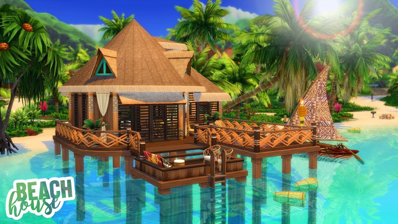 Tropical Island Beach House: The Sims 4 Island Living Speed