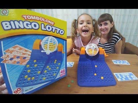 Bingo Lotto , Bildiğimiz tombala bu eğlenceli hale getirmişler, çocuk videosu, toys unboxing