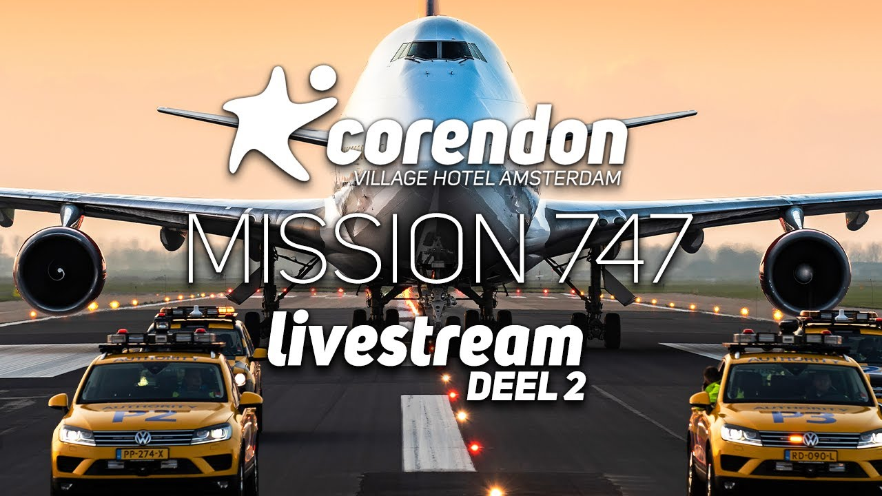 Boeing 747 Crosses Highway in Amsterdam Live — Corendon