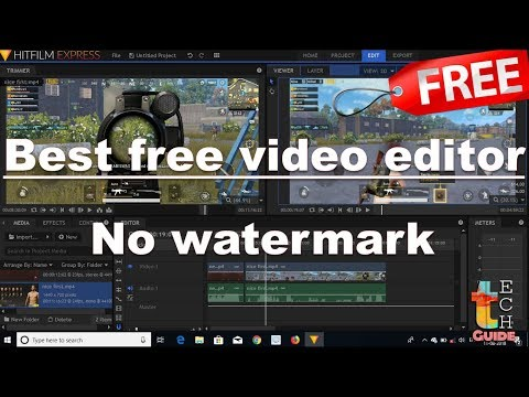 Best Free Video Editing Software Without Water Mark 2018 |best For Youtubers | In Hindi |