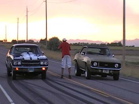70 chevelle vs 69 camaro