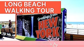 Walking tour of Long Beach, NY | Beach + Boardwalk | Pride Fair