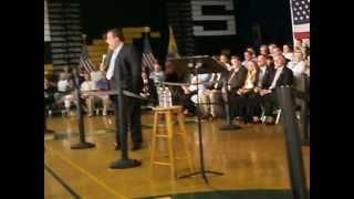 NJ Governor Chris Christie blasts Democrats at meeting in Brick