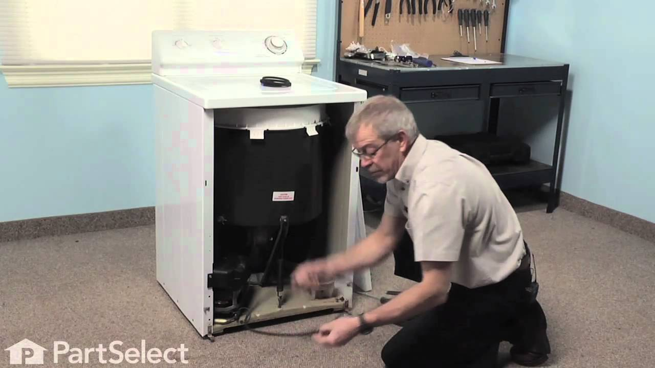 Washer Repair Replacing the Pump Belt (Whirlpool Part #211124)  YouTube