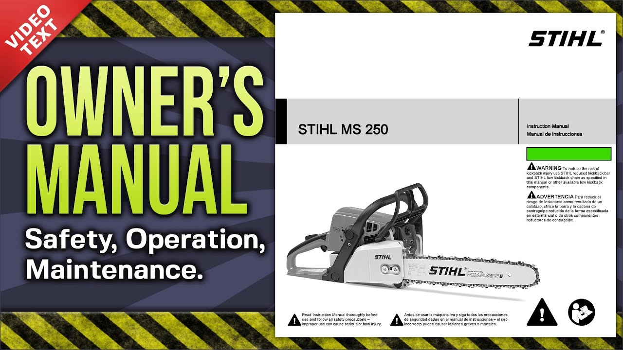 Stihl Ms 250 Chainsaw Ms250 C Manual Guide