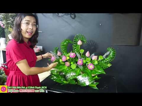 cấm hoa sen nghệ thuật tại kienthuccuatoi.com